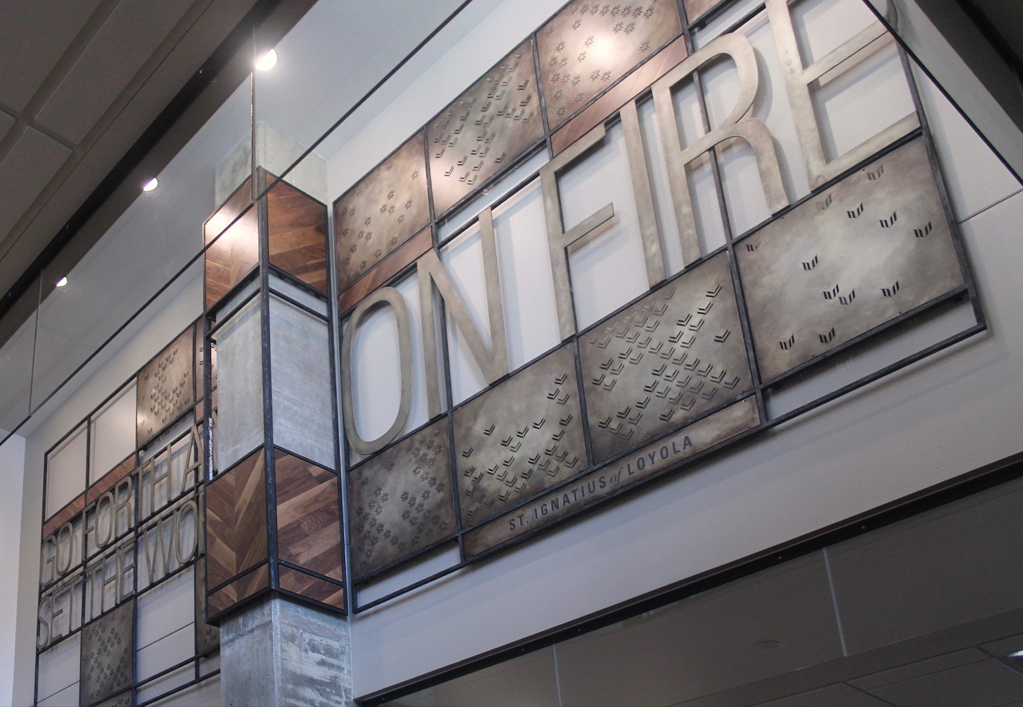 Marquette, University, Education, Environmental, Graphics, Donor wall, Experience, Design, Pattern, Metal, Wild Commons