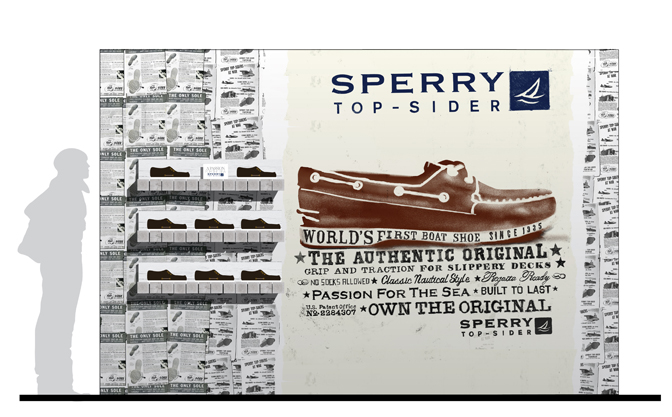 Sperry, Top-Sider, Fashion, Retail, Advertising, Environments, Retail, Illustration