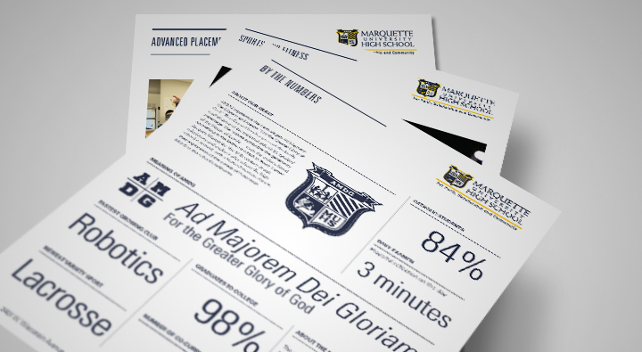 Marquette University High School, Education, Branding, Collateral, Private