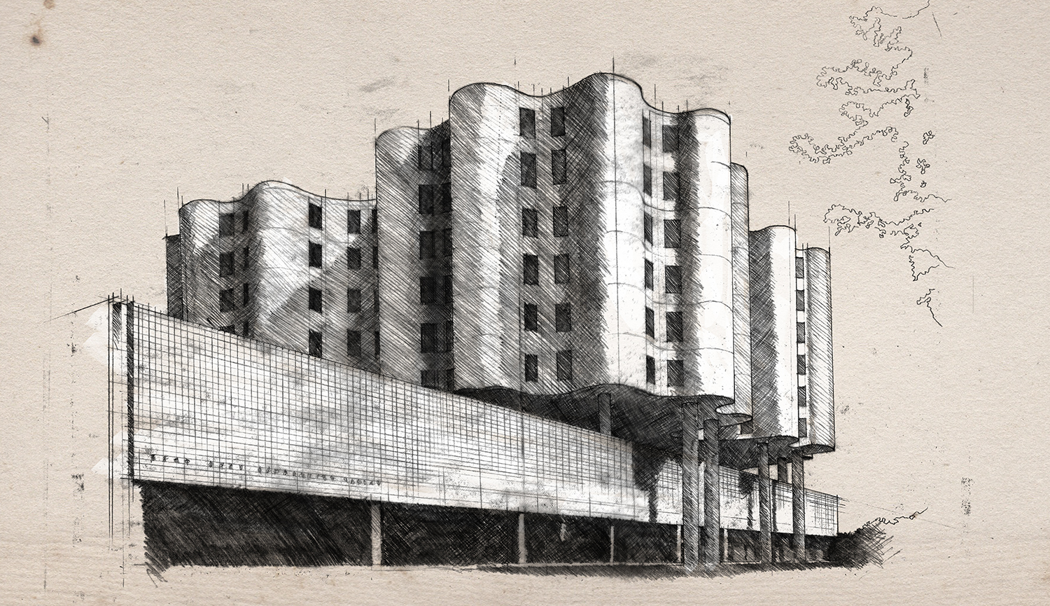 Architectural, Drawing, Illustration